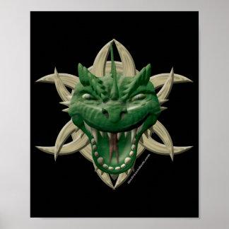 Dragon Head - Green Print