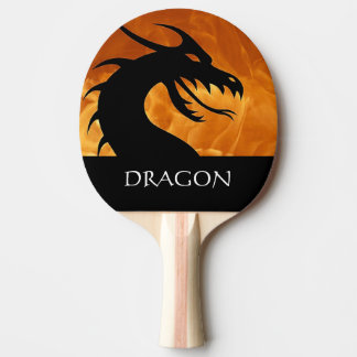 Dragon Head with Fire Ping Pong Paddle