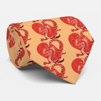 Dragon Heart Valentine Chinese Year of the Dragon Tie