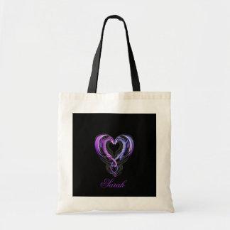 Dragon_Hearts_by_Sheblackdragon-1, Sarah Tote Bag