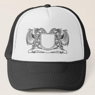 Dragon Heraldry Crest Coat of Arms Shield Emblem Trucker Hat