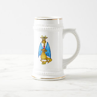 Dragon Holding Candle 18 Oz Beer Stein