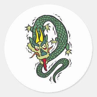 Dragon Image 28 Round Stickers