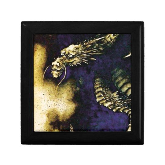 Dragon in a Rain Cloud Small Square Gift Box