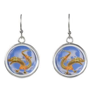 Dragon in Bubble Earrings
