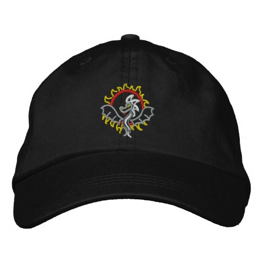 Dragon in the Sun Embroidered Hats