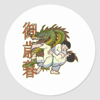 Dragon Karate Fighters Classic Round Sticker