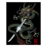 Dragon katana3 poster