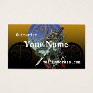 Dragon katana Uesugi Business Card