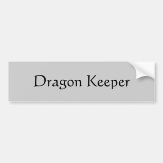 Dragon Keeper Bumper Sticker