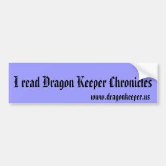Dragon Keeper Chronicles bumper sticker