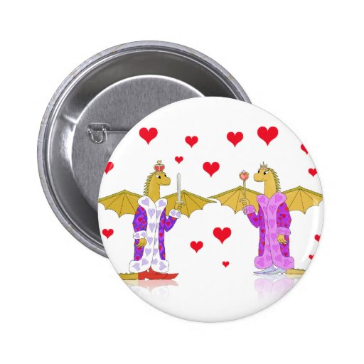 Dragon King and Queen of Hearts Pin