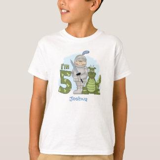Dragon Knight 5th Birthday Personalised T-Shirt