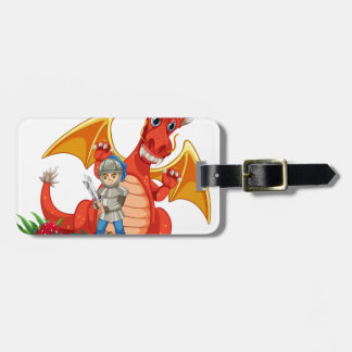 Dragon knight luggage tag