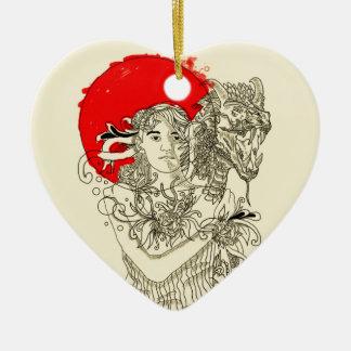 dragon lady ceramic ornament