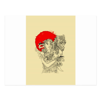 dragon lady postcard