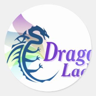 Dragon Lady Round Sticker