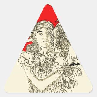 dragon lady triangle sticker