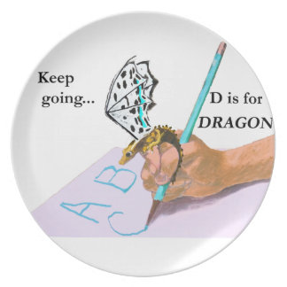 Dragon Looks at ABC Plates