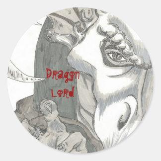 Dragon Lord Round Sticker