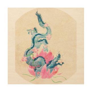 Dragon Lotus, Wood Wall Art