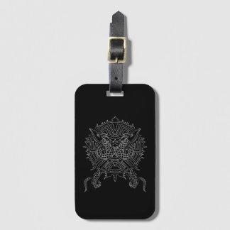 Dragon Mandala Tattoo Design Luggage Tag