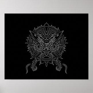 Dragon Mandala Tattoo Design Poster