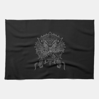 Dragon Mandala Tattoo Design Tea Towel