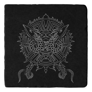 Dragon Mandala Tattoo Design Trivet