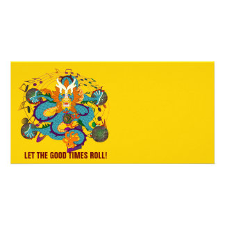 Dragon Mardi Gras 2 Louisiana Customised Photo Card
