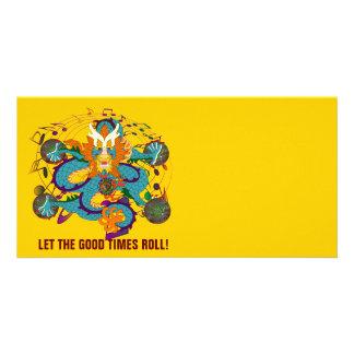 Dragon Mardi Gras 2 Louisiana Personalized Photo Card