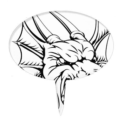 Dragon mascot cake pick