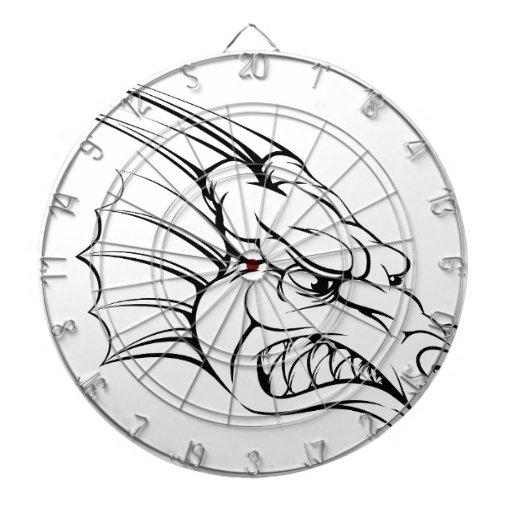 Dragon mascot dart boards