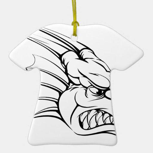 Dragon mascot christmas tree ornaments