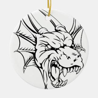 Dragon mascot christmas tree ornament