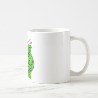 Dragon mascot fighting mugs