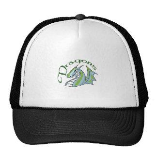 Dragon Mascot Mesh Hats