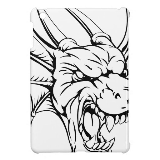 Dragon mascot iPad mini cases