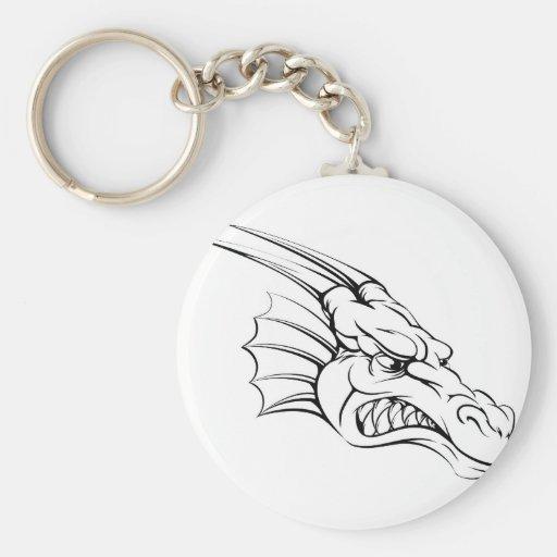 Dragon mascot key chains