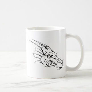 Dragon mascot coffee mugs