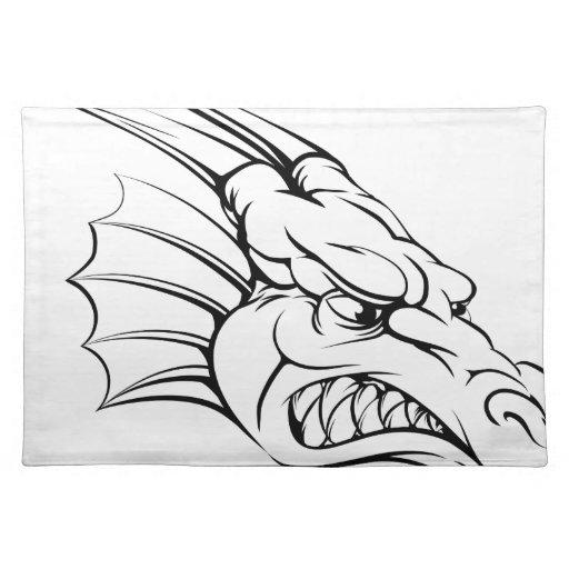 Dragon mascot placemats