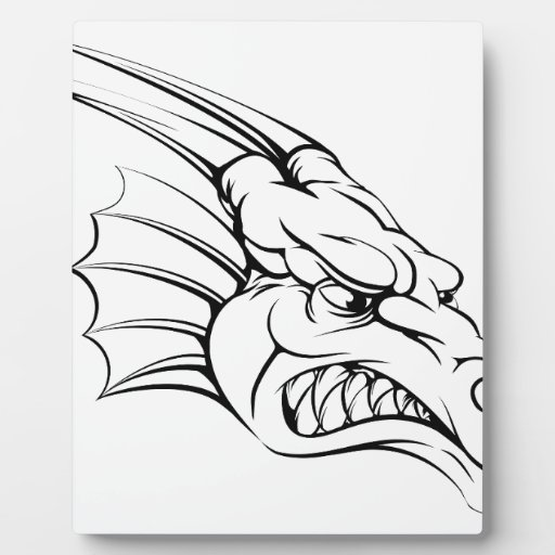 Dragon mascot photo plaques