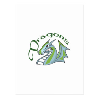 Dragon Mascot Postcard