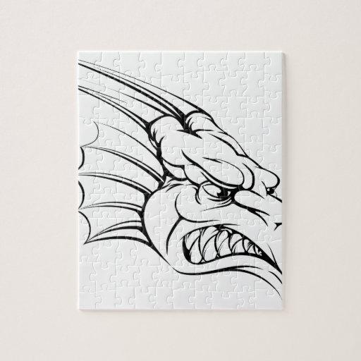 Dragon mascot jigsaw puzzles