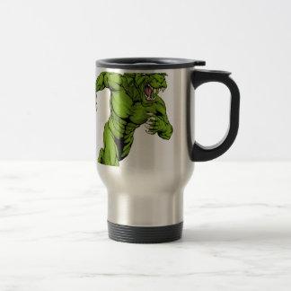 Dragon mascot sprinting mugs