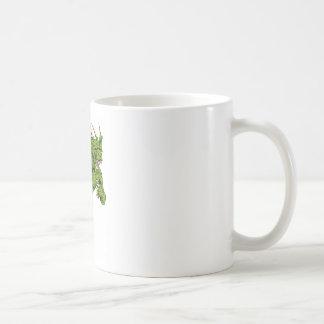 Dragon mascot sprinting coffee mugs