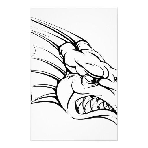 Dragon mascot customised stationery