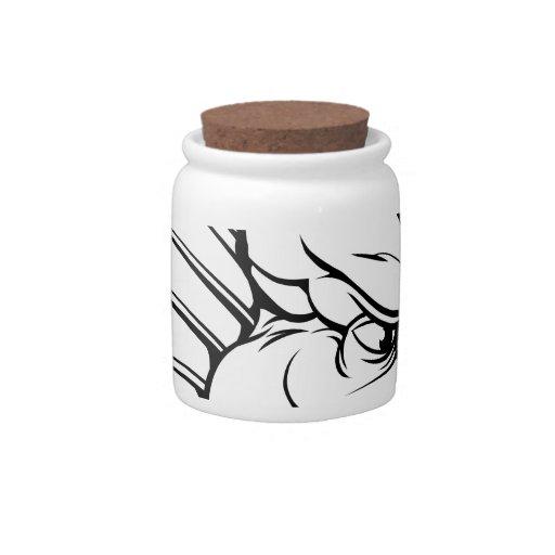 Dragon mascot candy jars
