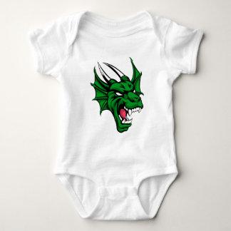 Dragon Mean Animal Mascot Baby Bodysuit