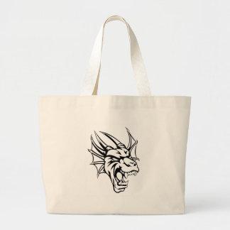 Dragon Mean Animal Mascot Large Tote Bag